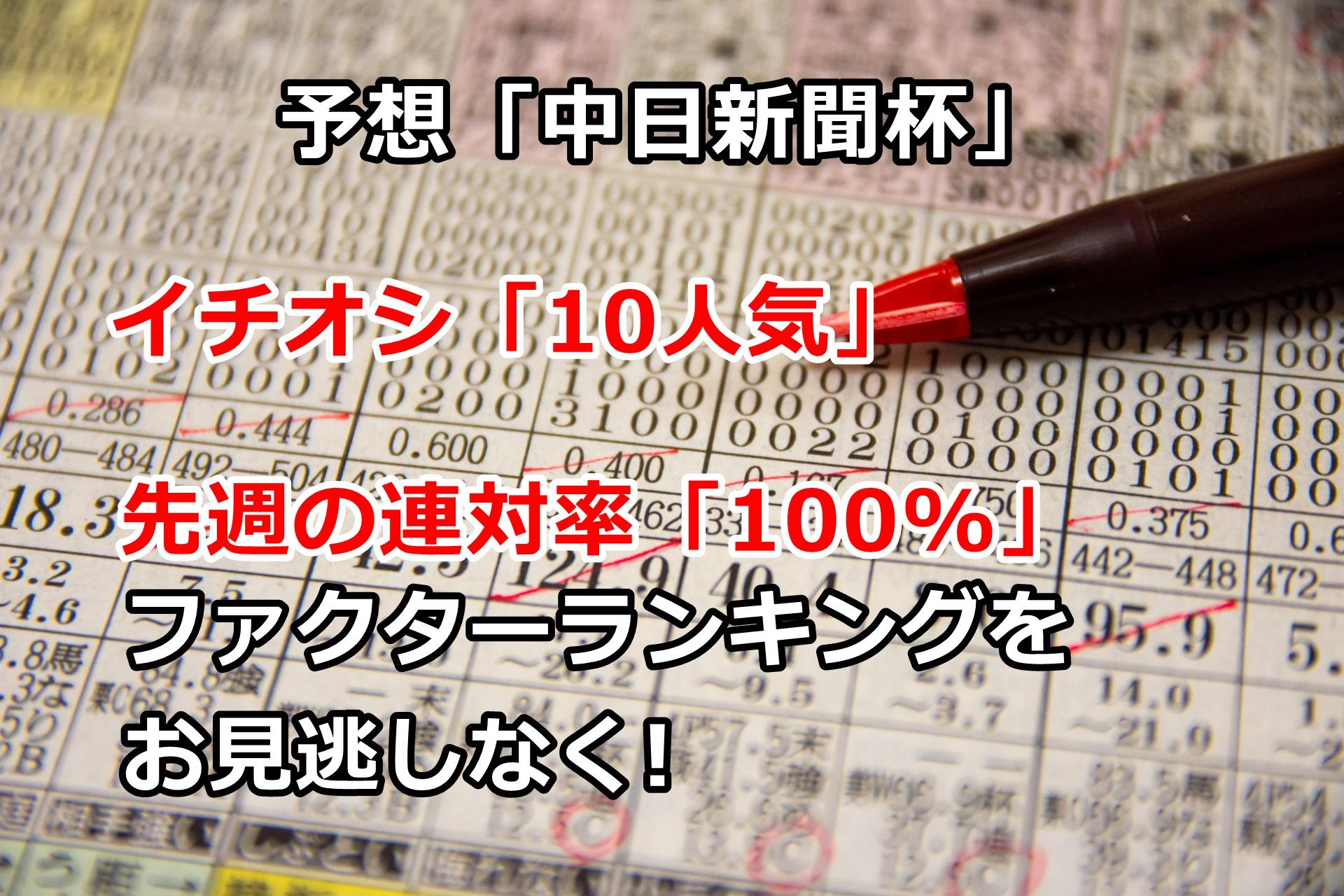 【競馬】ファクターランキング「連対率100%」 中日新聞杯の予想 第20回