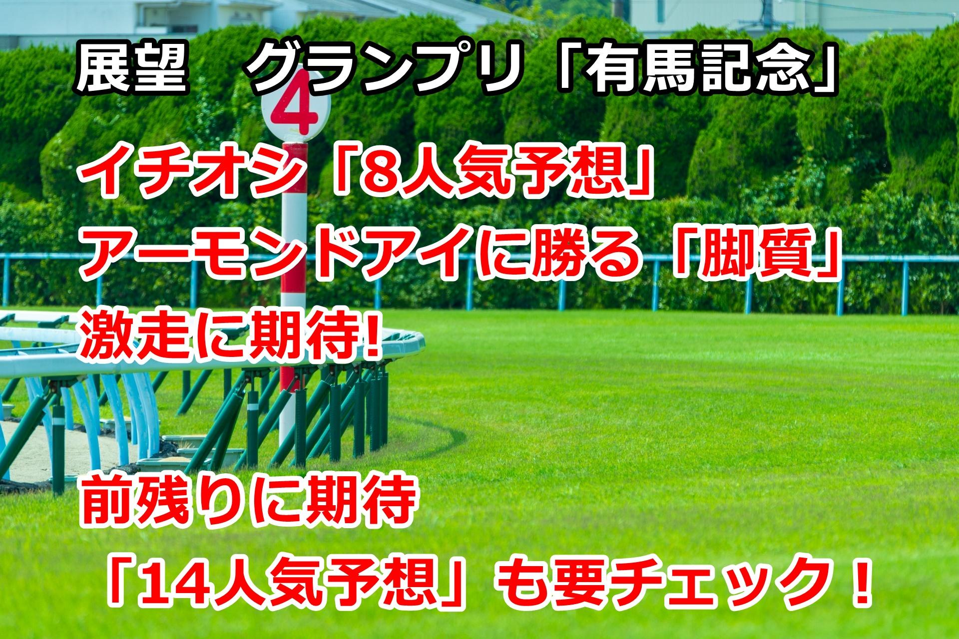 【競馬】イチオシ「アーモンドアイに勝る脚質! 8人気予想」 有馬記念の展望 第25回