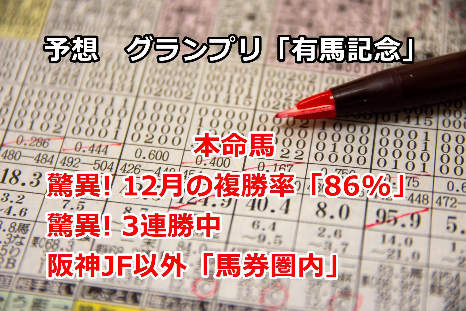 【競馬】本命馬「驚異! 3連勝中」 有馬記念の予想 第28回