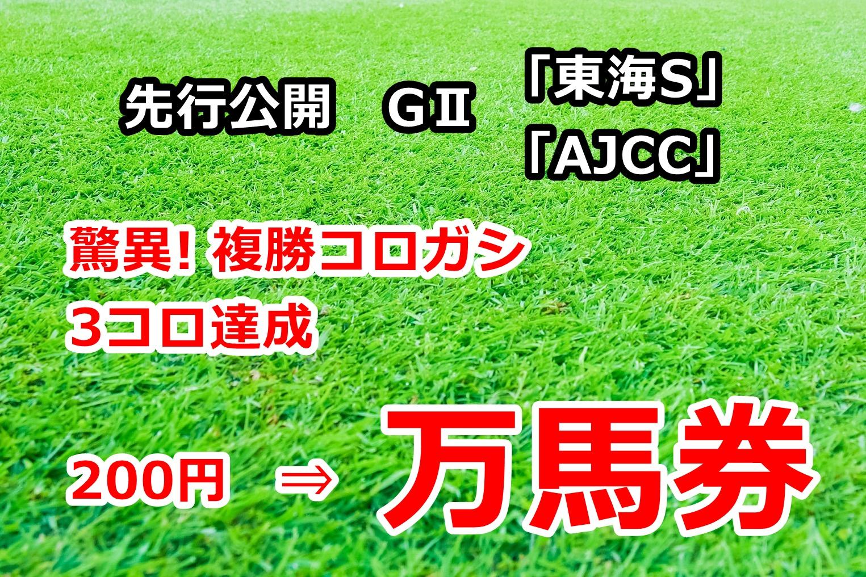 東海ステークス アメリカジョッキークラブカップ2020 先行公開【複勝コロガシ 万馬券達成!】