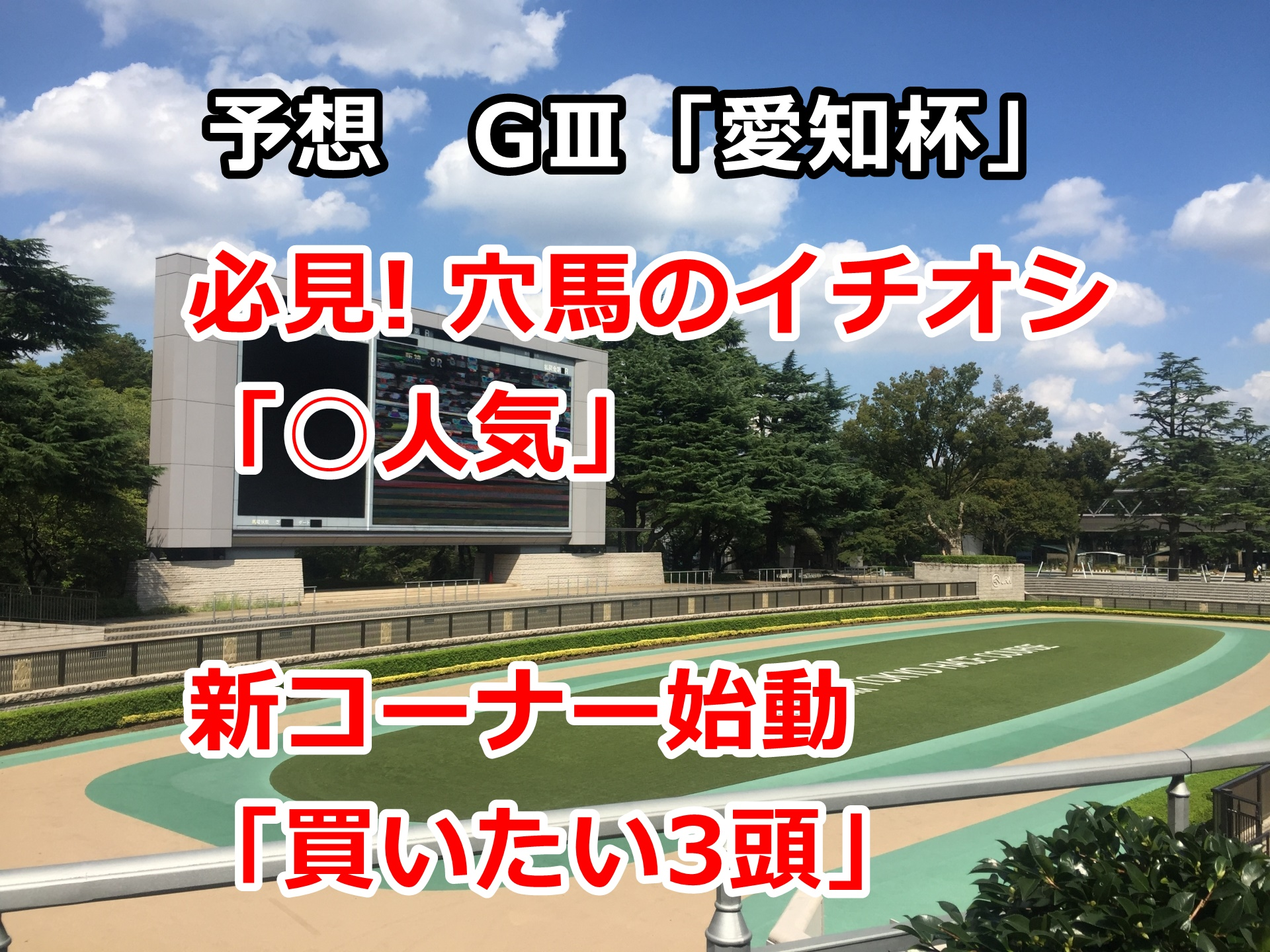 【競馬】愛知杯の予想 新コーナー始動「買いたい3頭」 第41回