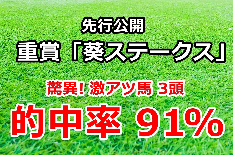 葵ステークス2020 先行公開【驚異! 激アツ馬3頭 年間的中率91%】