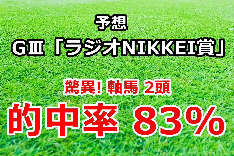 ラジオNIKKEI賞2020 予想【驚異! 軸馬2頭 的中率83%】